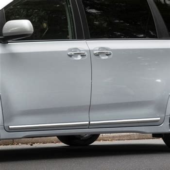 toyota sienna  door chrome body side moldings