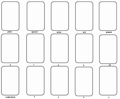 Card Blank Template Playing Printable Word Cards