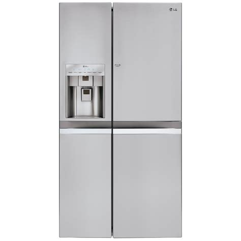 Counter Depth Refrigerator Dimensions Sears by Lg 21 5 Cu Ft Large Capacity Sxs Refrigerator With Door