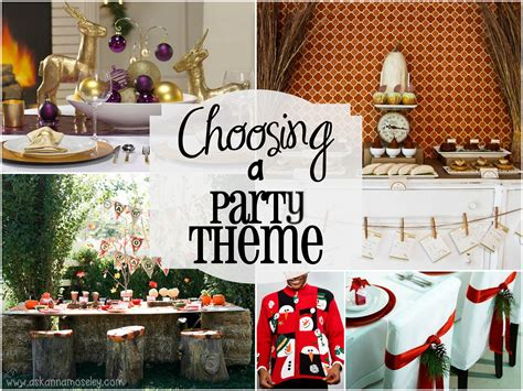 31 Ways to Plan a Fabulous Party: Choosing a Theme Ask Anna