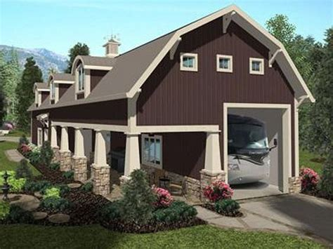 Apartment Barn Plans by Rear View 007g 0021 Outbuildings Garages In 2019