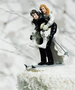 cake topper mariage skiing wedding cake toppers