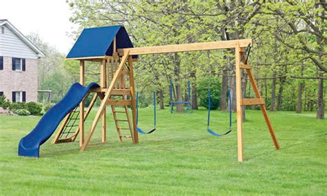 a frame swing set outdoor childrens swing set wooden playsets in ny