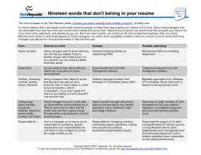 the words to avoid in resume resume template