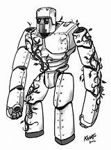 Golem Iron Minecraft Coloring Sketch Pages Mob Drawings Imgur Fan Getdrawings Game Da sketch template