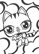 Coloring Pages Pet Littlest Lps Cat Printable sketch template