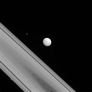 Three Saturn Moons Shine Amid Dazzling Rings in NASA Photo ...