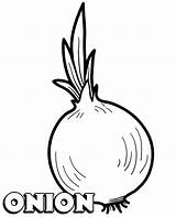 Coloring Onion Pages Vegetable Printable Vegetables Children Topcoloringpages Sheet sketch template