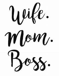 wife mom boss decal free custom color women by With decal lettering styles