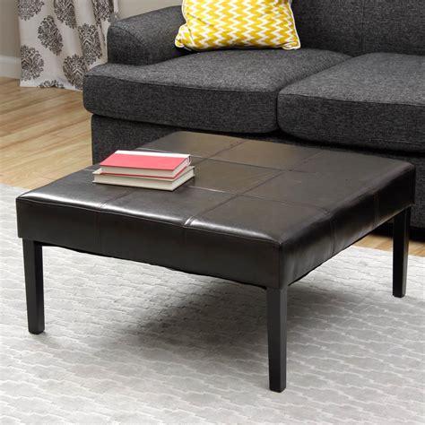 Black Leather Coffee Table  Coffee Table Design Ideas