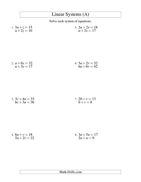 grade 8 math solving equations worksheets download them