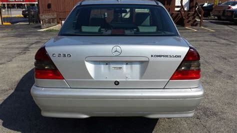 They average 22.4 combined miles per gallon, with the latest 2005 c230 kompressor above average at 24 combined. Buy used 2000 Mercedes Benz C230 Kompressor Sport ---- No ...
