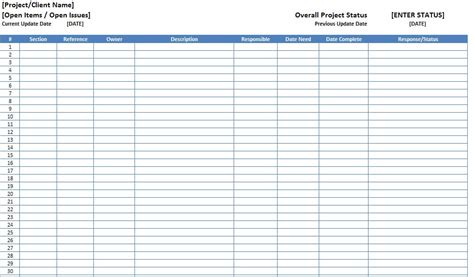Project Log Template by Top 5 Resources To Get Free Project Log Templates Word