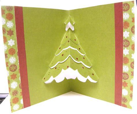 etsygreetings handmade cards pop up christmas tree