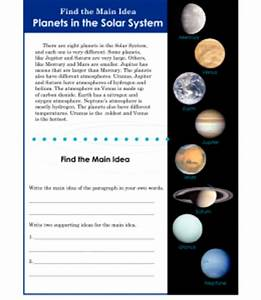 3rd or 4th Grade Main Idea Worksheet About Planets ...