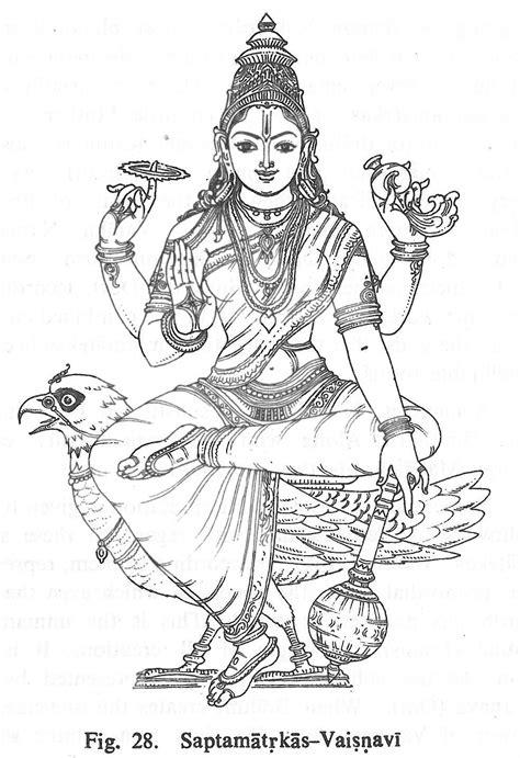 Saptamatrkas-Vaisnavi | Hindu Gods Coloring Book | Pinterest | Personnage