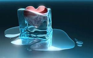 Heart trapped in ice cube wallpaper #644
