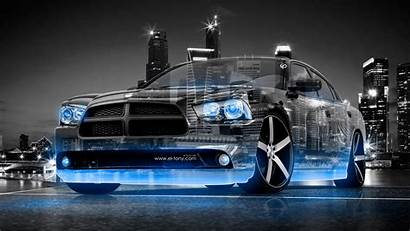 4k 3d Wallpapers Dodge Charger Crystal Rt
