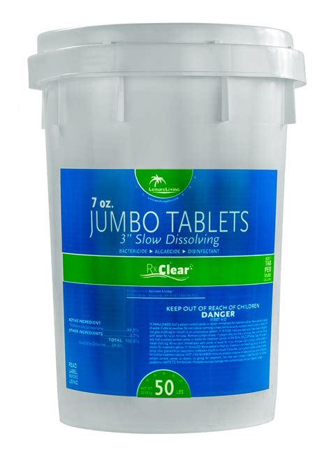 clean deck with chlorine rx clear 174 3 quot stabilized chlorine tablets 50 lbs