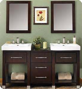 Double Sink Vanity with Open Shelf for Bathroom