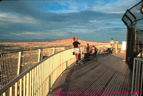 People Outdoor Observation Deck Stratosphere Hotel Las