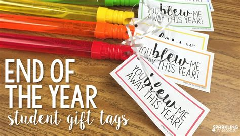 End Of Year Gift Bubble Tags