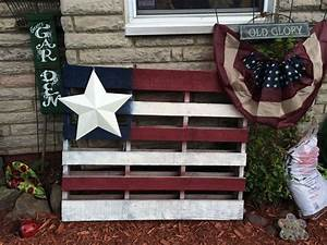 American flag pallet art hometalk for What kind of paint to use on kitchen cabinets for painted american flag wall art