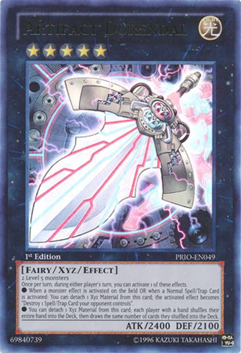 artifact yugioh deck list artifact durendal yu gi oh tcg ocg card discussion