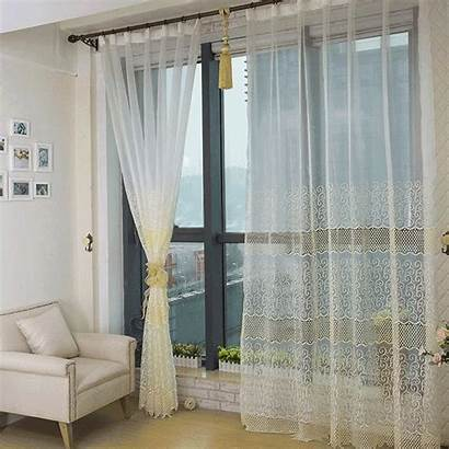 Curtains Sheer Living Bedroom Yellow Blackout Walls