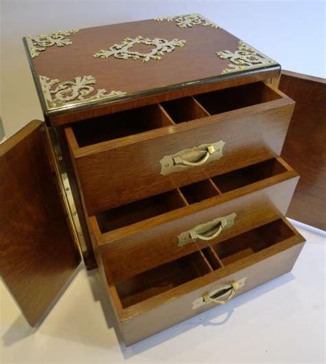 Cigar Cabinet Humidor Uk by Grand Large Antique Oak Cigar Box Cabinet
