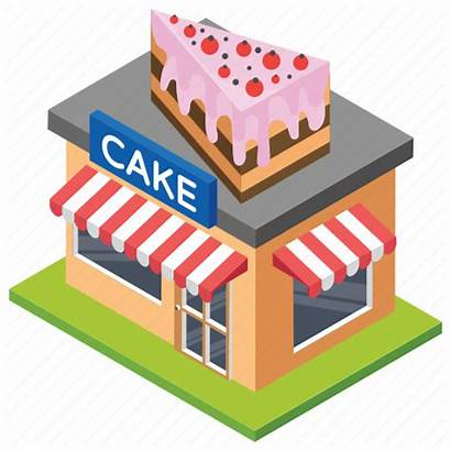 Bakery Icon Building Cake Breakfast Architecture Stores
