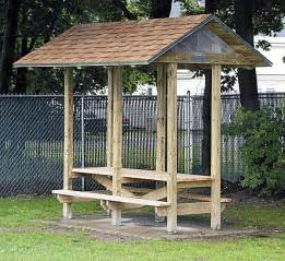 pdf woodwork covered picnic table plans download diy plans