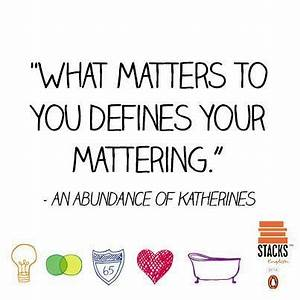 QUOTES ABUNDANCE OF KATHERINES image quotes at hippoquotes.com