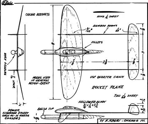 balsa plane plans blueprints  diy    build wood work