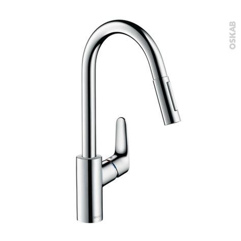 robinet cuisine hansgrohe robinet de cuisine focus mitigeur avec douchette chromé