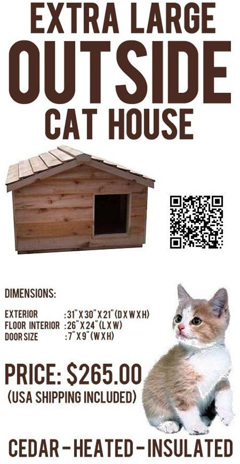 outside cat house northern white cedar and cat houses on