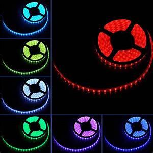 Kit LED Strip Lights 16FT Waterproof RGB Power Supply ...
