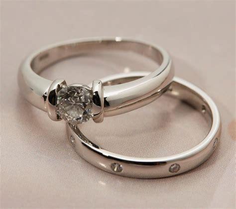 platinum engagement wedding ring set com582