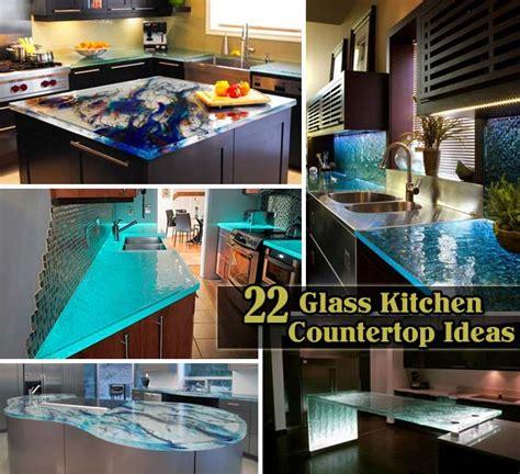 modern  stylish glass kitchen countertop ideas