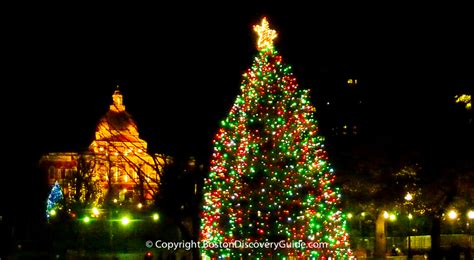 boston tree lighting events schedule 2017