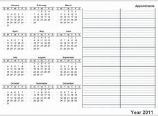 Yearly Calendar Free monthly printable calendar