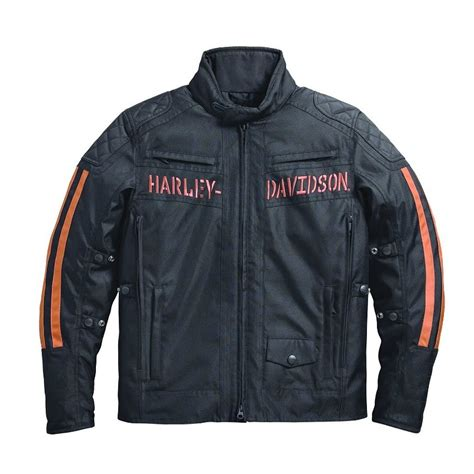 riding jackets harley davidson mens foley waterproof textile riding jacket