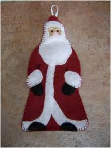 Free Felt Christmas Ornament Patterns Santa