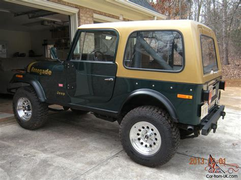 renegade jeep cj7 1979 jeep cj7 renegade v8 w factory hardtop