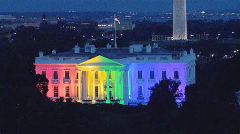 white house colors white house pretty cool in rainbow colors says obama