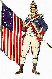 The American uniforms during the Revolutionary War were ...