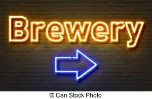 Parete segno neon birra mattone faccia Parola