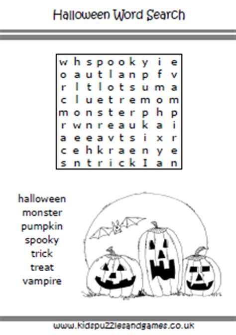 halloween kids puzzles  games
