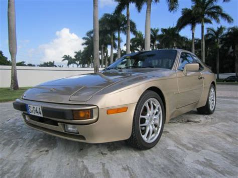 gold porsche truck purchase used very clean 1987 gold porsche 944 in united