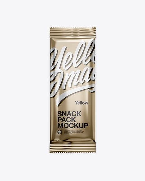 Free for personal and commercial use zip file includes: Metallic Snack Pack PSD Mockup Front View